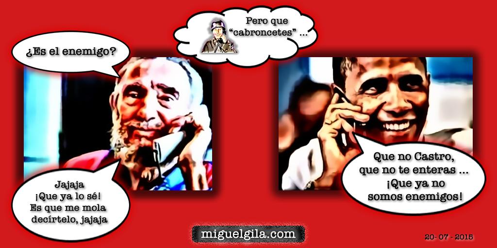 Nuevas relaciones entre Estados unidos y Cuba - Fidel Castro y Obama - Miguel Gila