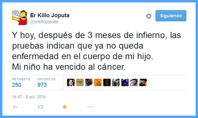 Cura del cancer de @erkillojoputa