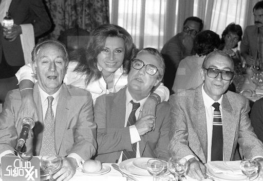 Miguel Gila con Mingote, José Luís coll y Rocío Jurado