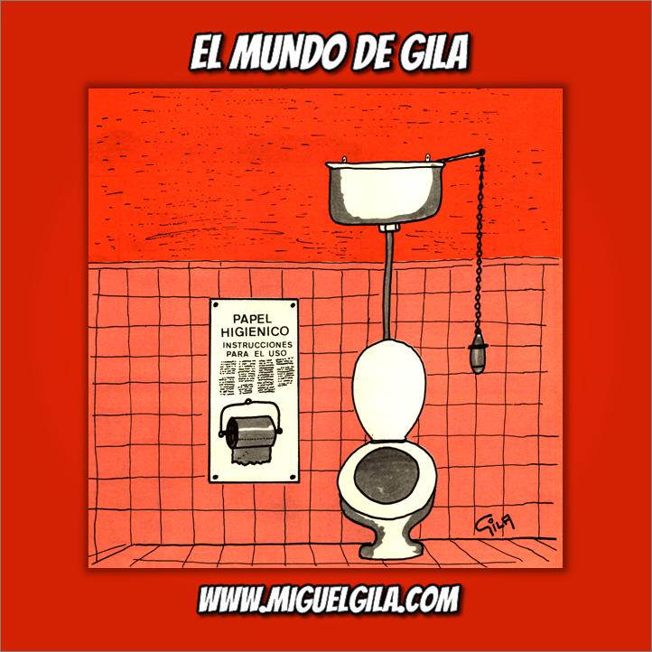 Miguel Gila - Chistes gráficos - Día Mundial del Retrete - World Toilet Day