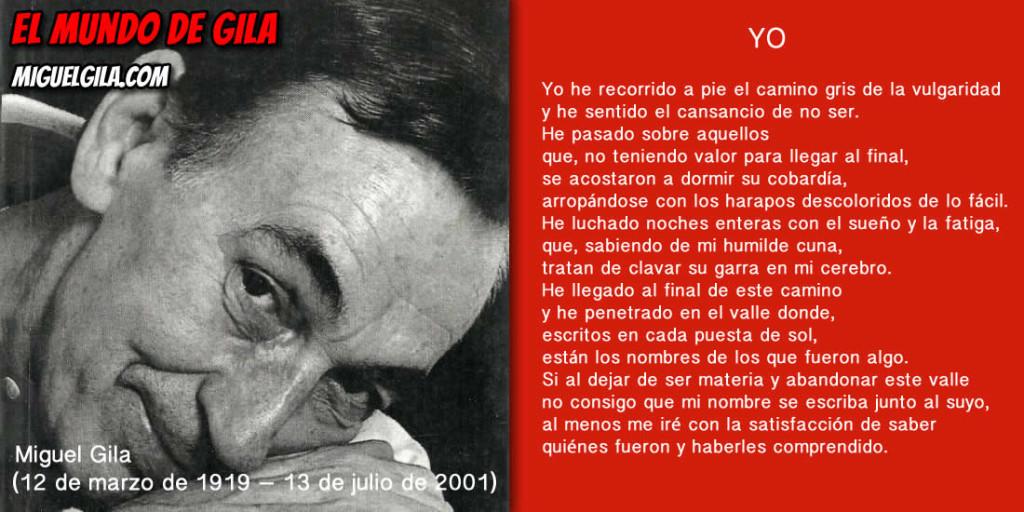 Yo Poema de Miguel Gila