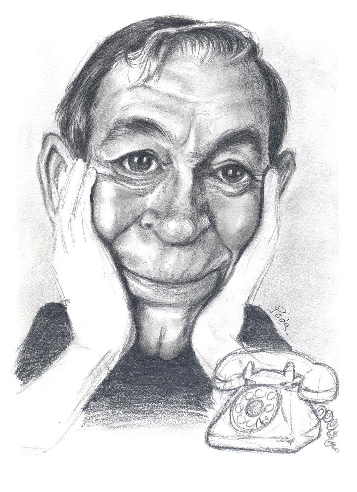 Caricatura de Miguel Gila - Poda