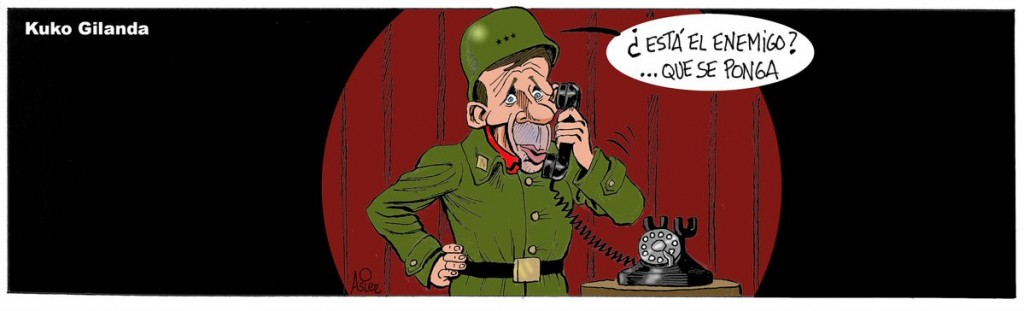 Caricatura de Miguel Gila hecha por Asier
