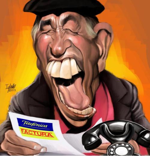 Caricatura de Miguel Gila - Raúl Iglesias