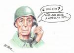 Caricatura de Miguel Gila hecha por ElLápizLoco