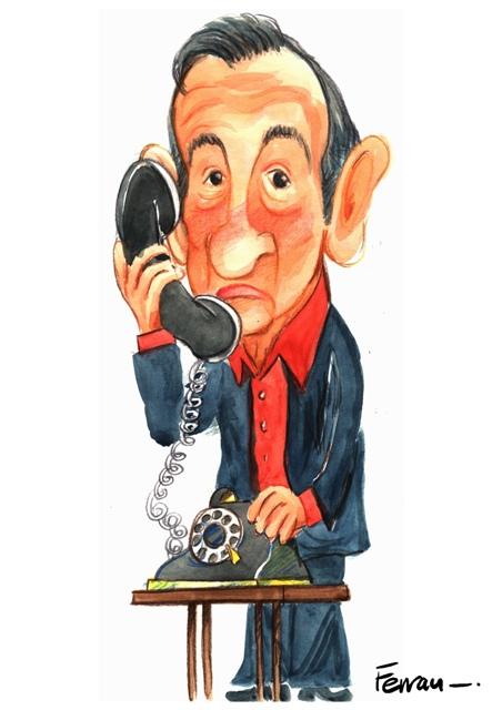 Caricatura de Miguel Gila - Ferrán Martín