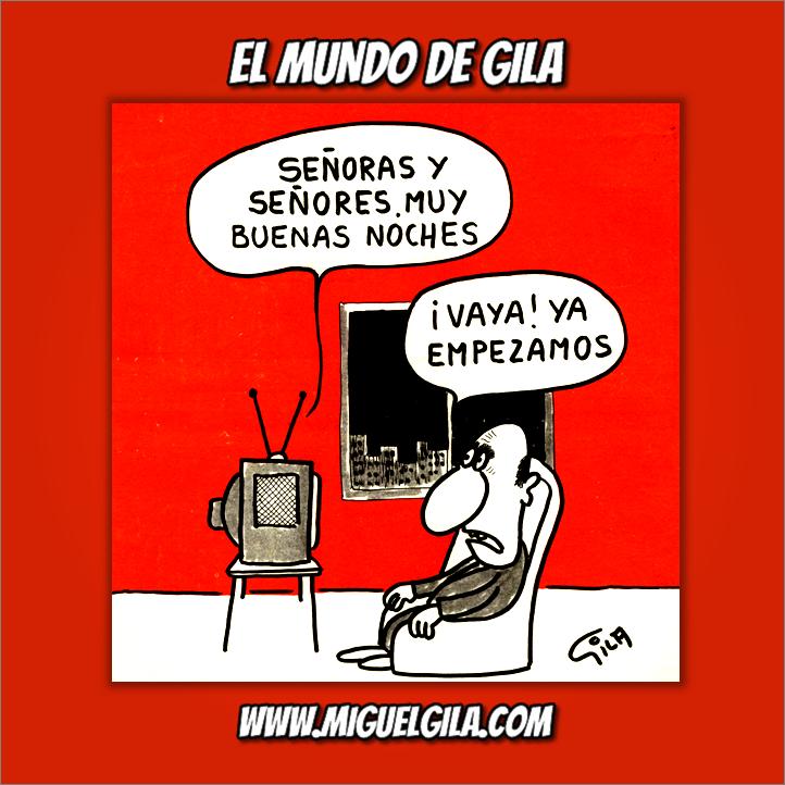 Miguel Gila - Chistes gráficos - Día Mundial de la Televisión