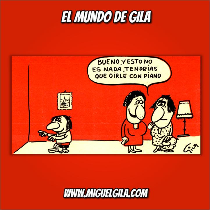 Miguel Gila - Chistes gráficos - Día de la Música