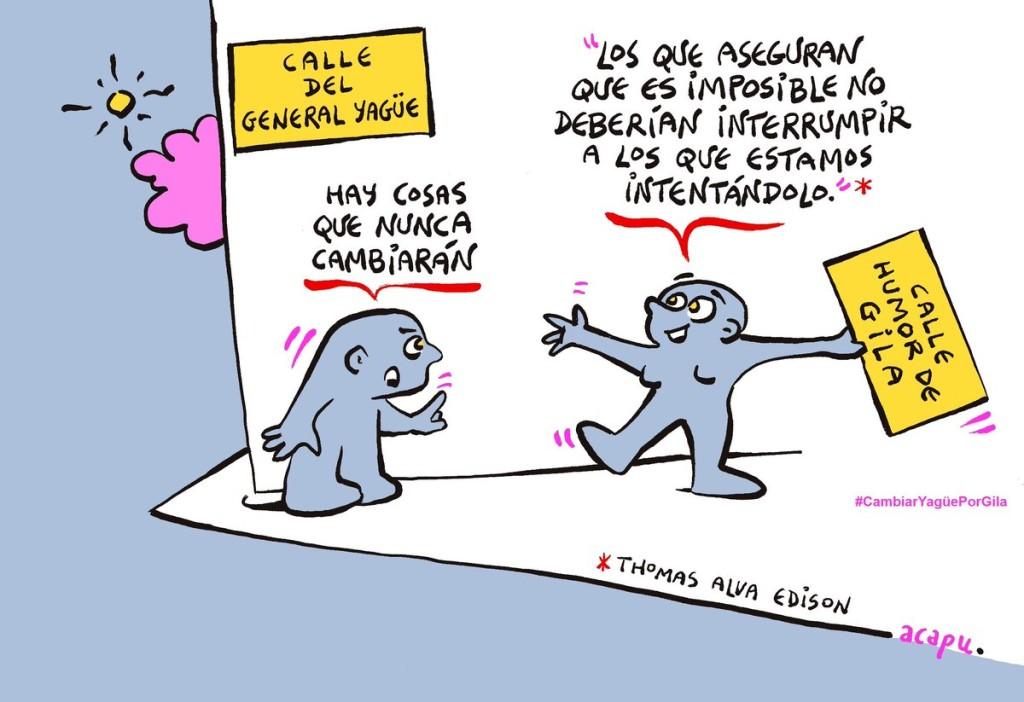 Viñeta de ACAPU - Apoyo para la Calle Humor de Gila