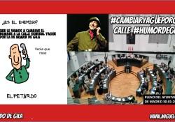 Pleno del Ayuntamiento de Madrid - Cambiar General YAgüe por Humor de Gila