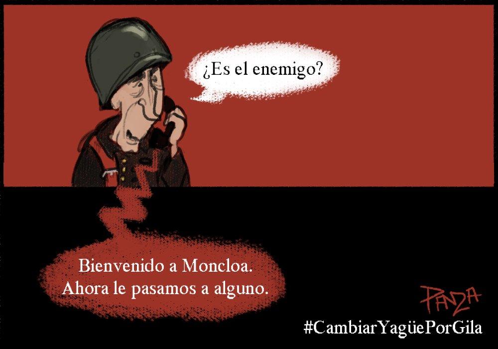 Apoño viñeta de Pandza a la iniciativa #CambiarYagüePorGila Calle #HumorDeGila