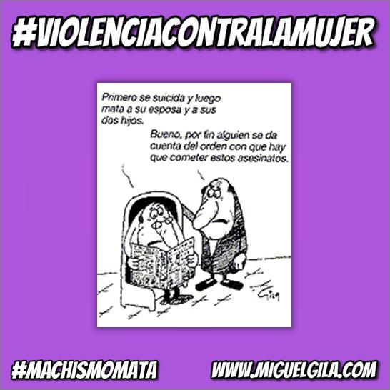 Violencia machista - Viñeta de Miguel Gila