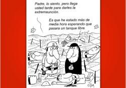 Viñeta de Miguel Gila - Chistes gráficos - Ejército - Iglesia - Extremaunción