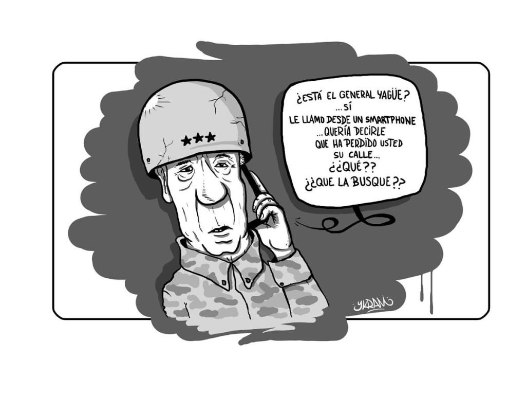 Viñeta de Ykram apoyando la iniciativa #CambiarYagüePorGila #CalleHumorDeGila