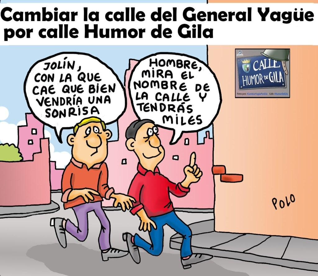 Viñeta de Polo apoyando la calle Humor de Gila