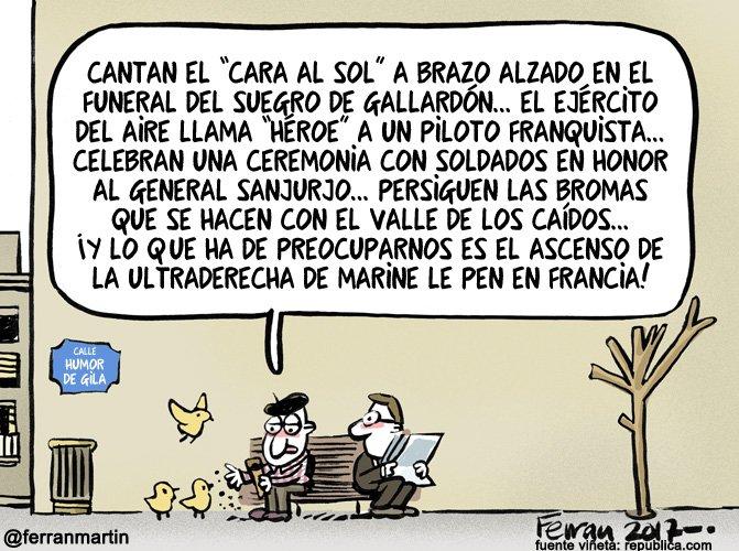 Viñeta de Ferran Martín - Apoyo Calle Humor de Gila