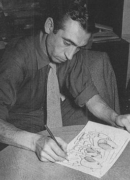 Miguel Gila dibujando