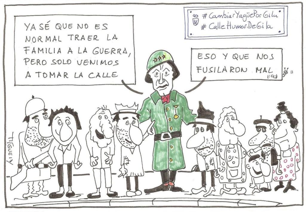 Viñeta de Polithiquea, Míguel. Homenaje a Miguel Gila - Calle Humor de Gila