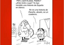 La historia de España en blanco. Viñeta de Miguel Gila