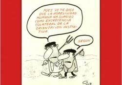 """Viñeta de Miguel Gila - Explicando lo inexplicable """"La agresividad humana"""""""
