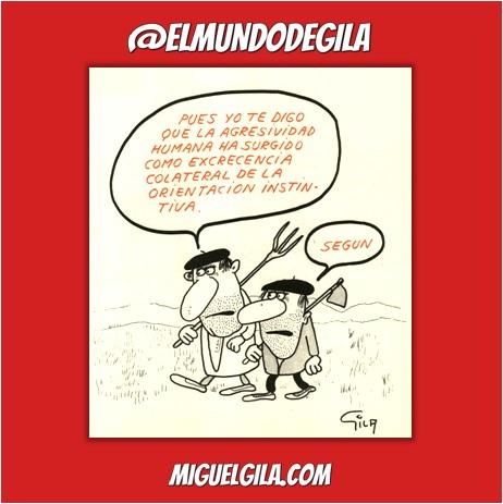 Viñeta de Miguel Gila - La agresividad humana