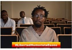 El Humorista Gráfico Ramón Nse Esono aun permanece en prisión, a pesar de que se retiraron todos los cargos en el juicio #FreeNseRamon #LibertadHumoristaEono