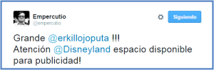 Tuiteros influyentes - Disneyland