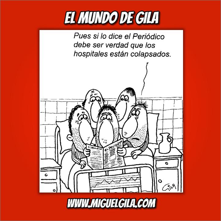 Sanidad Publica - Viñeta de Miguel Gila