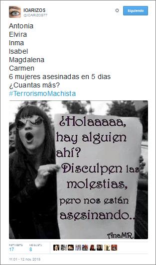 Violencia machista - Tuit - Miguel Gila