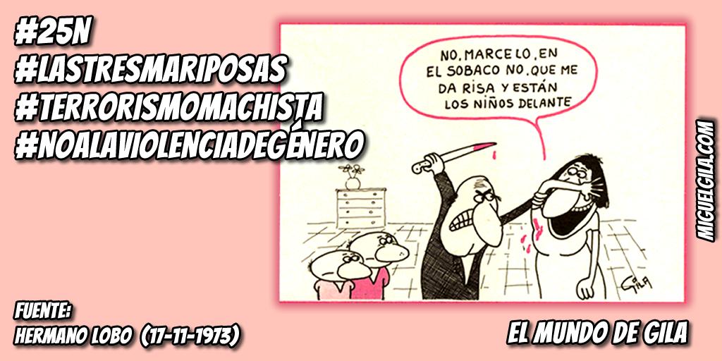 No a la violencia de género - Terrorismo machista - Viñeta de Miguel Gila
