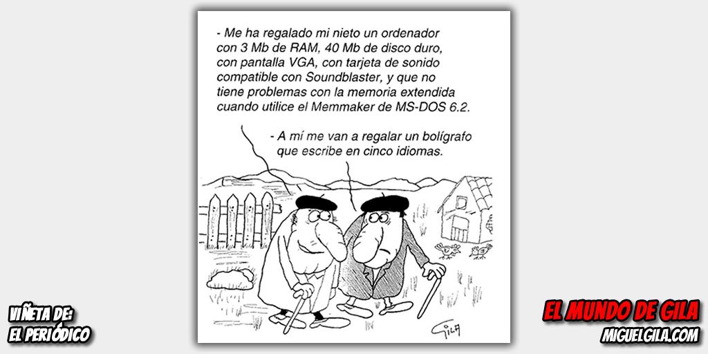 Viñeta de Miguel Gila - La tecnología, abuelos y nietos