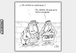 Viñeta de Miguel Gila - Un mensaje muy claro