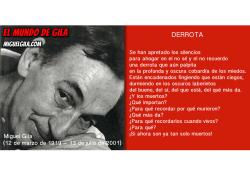 Miguel Gila - Poema - Derrota