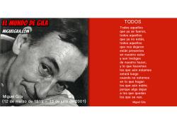 Miguel Gila - Poeta