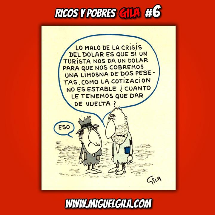 Miguel Gila - Ricos y Pobres - Chistes Gráficos