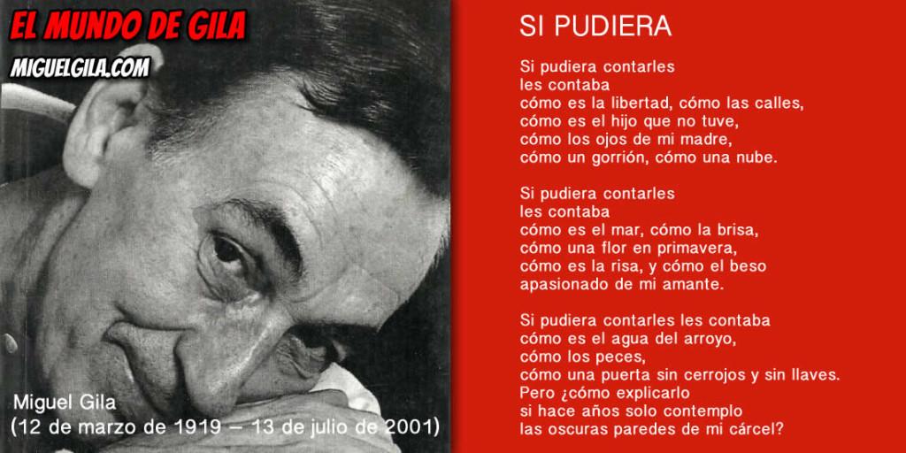 Miguel Gila - Poema - Si Pudiera