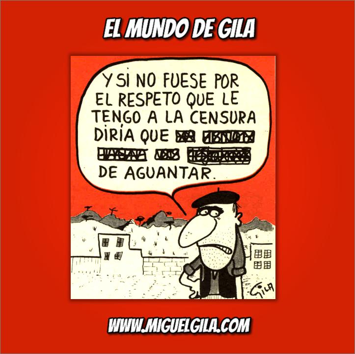 Miguel Gila - Chistes Gráficos - Libertad de prensa - Libertad de expresión