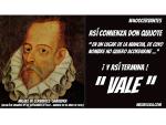 """Y así termina Don Quijote: """" VALE """" #400Cervantes"""