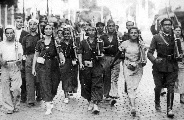 Milicianos y Milicianas - Guerra civil de España - Miguel Gila