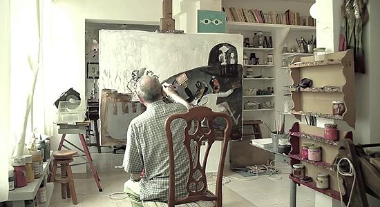 Andrés Vázquez de Sola en su estudio