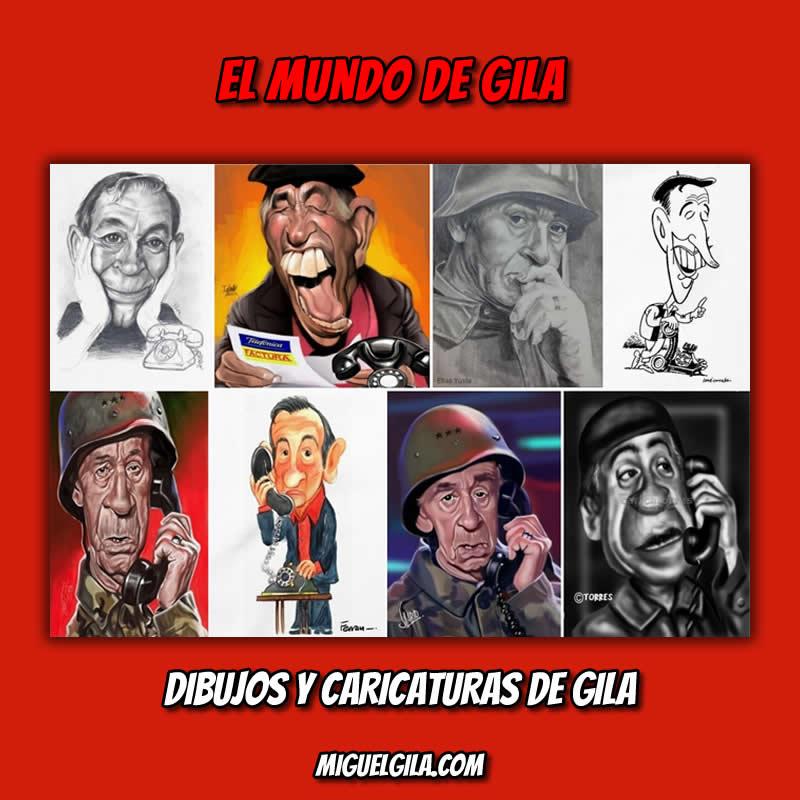 Recopilación de dibujos y caricaturas de Miguel Gila