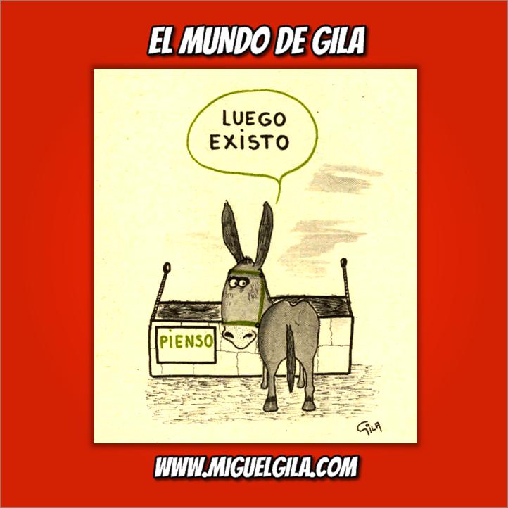 Miguel Gila - Chistes gráficos - Pienso luego existo
