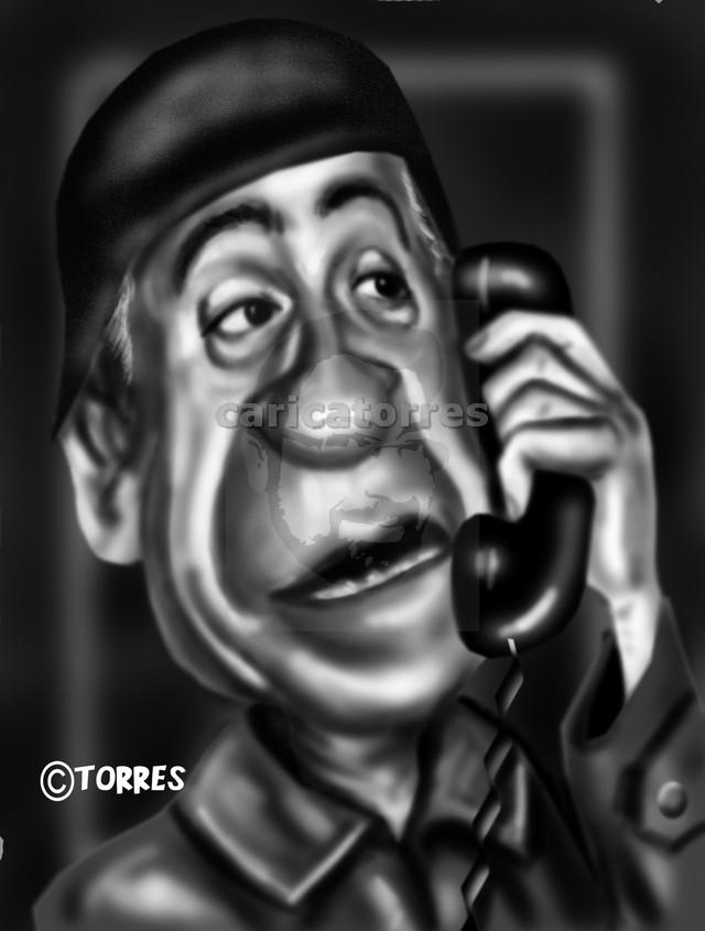 Caricatura de Miguel Gila - José Torres