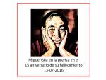 Recopilación de artículos sobre Miguel Gila en el 15 aniversario de su fallecimiento