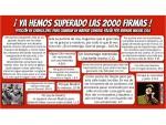 Ya hemos superado las 2000 firmas para cambiar General Yagüe por la Avenida Miguel Gila ¡Miles de gracias!