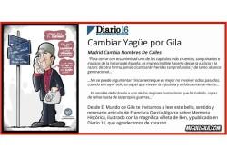 Artículo en Diario 16 sobre el cambio de Yagüe por Gila