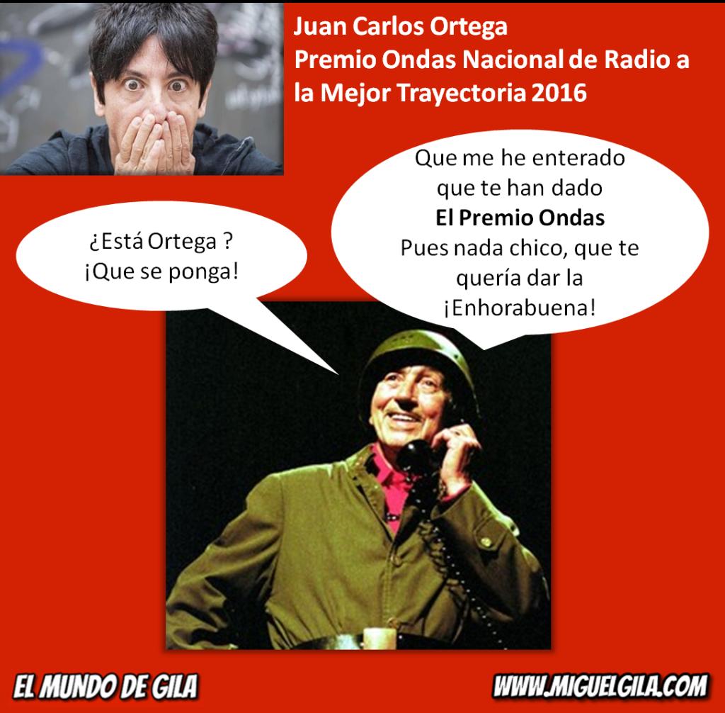 Miguel Gila felicita a Juan Carlos Ortega por el Premio Ondas