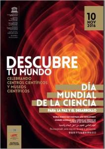 Cartel Día Mundial de la Ciencia 2016