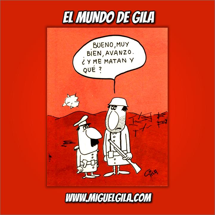 Miguel Gila - Chistes gráficos - Chistes de guerras