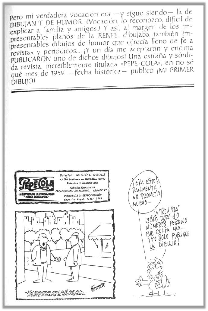 Primer dibujo de El Perich
